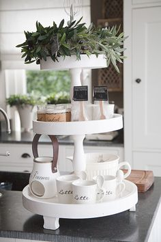 Olijfkrans 30 cm tier addiction in 2019 - кухня, сервировка Kitchen Island Decor, Ikea Kitchen, Home Decor Kitchen, Kitchen Dining, Cabinets And Countertops, Wood Kitchen Cabinets, Home Selling Tips, Decorating Coffee Tables, Tray Decor