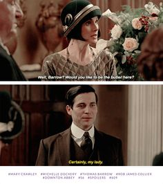 Mary offering Thomas the job to be Head butler | Downton Abbey Season 6 Christmas Special>> I teared up during this