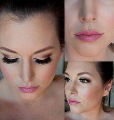 Pink and bronze makeup