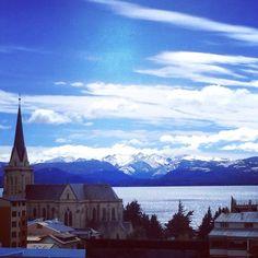 Club Andino Bariloche, San Carlos de Bariloche, Argentina — by Erin McElroy. View of Lago Nahuel Huapi from centro. Visit la oficina de club andino to plan day hikes and multi-day treks in the...