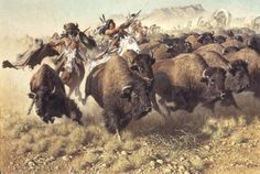 """Frank McCarthy's """"Attack on a Wagon Train"""" http://www.greenwichworkshop.com/images/gallery/images/Prints/Mccarthy/1982attackonwa2.jpg"""