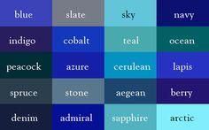 The cobalt blue we like