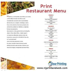 Get the best #Restaurant #Menu designed and printed by Njprintandweb  http://www.njprintandweb.com/printing/print-restaurant-menu/