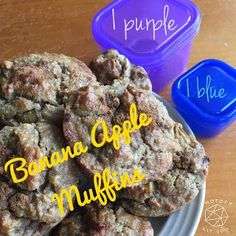 Banana Apple Muffins from Fixate    Healthy snack recipe   21 Day Fix approved   Travel friendly snacks   Vegetarian  
