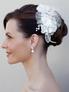 Hair Comes the Bride - Vintage Beaded Flower Bridal Hair Comb ~ Soleil, $52.00 (http://www.haircomesthebride.com/vintage-beaded-flower-bridal-hair-comb-soleil/)
