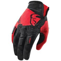 2015 Thor Flow Gloves - Red Available at www.dirtbikexpress.co.uk