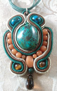 Beaded soutache necklace