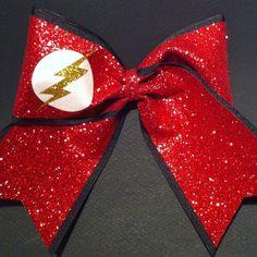 3in. Glitter Flash Gordon Superhero Cheer Bow on Etsy, $12.00