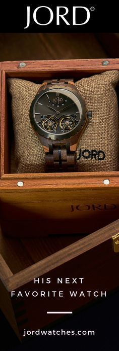 Jord has created the only wood watch to feature elements common in luxury brands. Automatic movements, durable sapphire glass, and deployant buckles mean a JORD watch will be favored in your collection for years to come.Customize it with personalized engr Wooden Watches For Men, Cool Watches, Wrist Watches, Men's Watches, Diamond Watches, Fine Watches, Watches Online, Well Dressed Men, Shopping Hacks