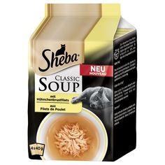 Animalerie  Sheba Classic Soup 4 x 40 g pour chat  filets de poulet