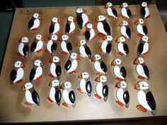 puffins,pins Moose Antlers, Antler Art, Hobbs, Carving, Crafts, Birds Photos, Manualidades, Wood Carving, Sculpture