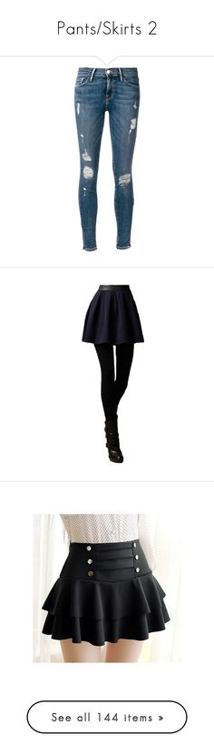 """""""Pants/Skirts 2"""" by chibi-space-gal ❤ liked on Polyvore featuring jeans, pants, bottoms, pantalones, blue jeans, frame jeans, super skinny jeans, skinny fit jeans, skinny jeans and legs"""