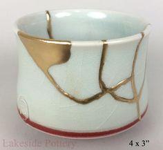 Japanese Tulip kintsugi bowl