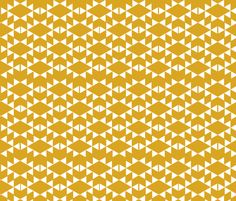 golden yellow white aztec triangles fabric by charlottewinter on Spoonflower - custom fabric