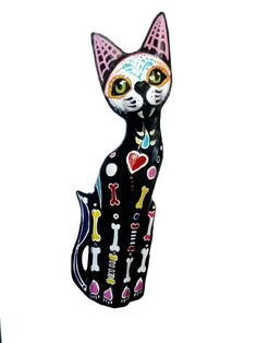 Carved wooden cat sculpture. It was enjoyable doing something different