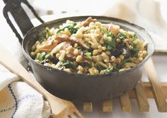 Brown Rice and White Beans with Shiitakes and Spinach - Robin Robertson