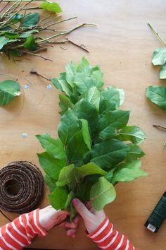 DIY: Making a Lemon Leaf Garland - Project Wedding