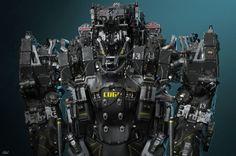 ArtStation - VMP-12, by Andrey BogomolovMore robots here.