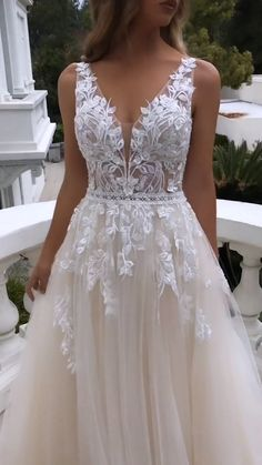 Glamorous Off-The-Shoulder Ball-Gown Wedding Dresses with Flower Inspiration. 💕 Gallery page filled with the most stunning wedding dresses to get you inspired for your wedding day. Video: Enzoani // m Ivory Bridesmaid Dresses, Top Wedding Dresses, Stunning Wedding Dresses, Wedding Dress Trends, Gorgeous Wedding Dress, Princess Wedding Dresses, Bridal Dresses, Gown Wedding, Wedding Bride