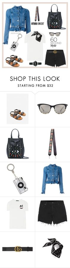 """""""60-Second Style: Outdoor Concerts♥♥♥"""" by marthalux ❤ liked on Polyvore featuring MANGO, Oliver Peoples, Kenzo, Rebecca Minkoff, Kate Spade, J.W. Anderson, AlexaChung, rag & bone, Gucci and Vince Camuto"""