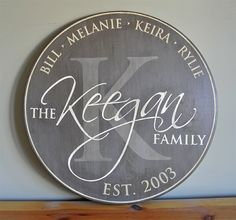 Personalized Established Family Name Sign by CreativeSignLanguage, $88.00