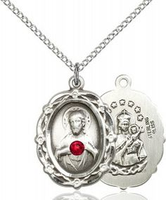 Bonyak Jewelry Lord is My Shepherd Hand-Crafted Oval Medal Pendant in Sterling Silver