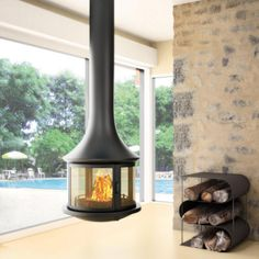 #JCBordelet Lea 998 Suspended #Woodburning #Stove - Now available from www.fireplaceproducts.co.uk