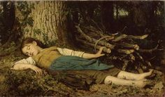 In the woods - Albert Anker  -  Completion Date: 1865