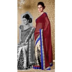 Deep Brown Bhagalpuri Silk Saree