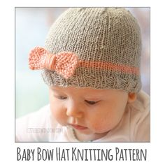 Knit an adorable Pretty Kitty Cat Hat for your little one with this free easy pattern!