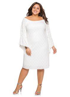 Plus Size Eyelet Angle Sleeve White Plus Size Dresses, Plus Size Skater Dress, Plus Size Bodycon Dresses, Little White Dresses, Plus Size Outfits, Bandage Dresses, Skater Dresses, White Lace Maxi Dress, White Dress Summer