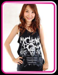 4b5cb202930 My Chemical Romance MCR Black Parade Punk Rock Women Tank Top T Shirt
