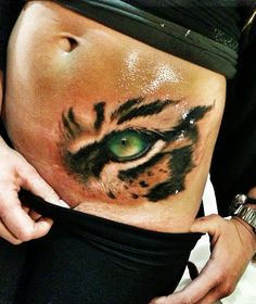 Realistic Tattoo Eye Of The Tiger