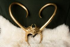 Lady Loki Horns Cosplay Headdress by OneiromanticDesigns on Etsy