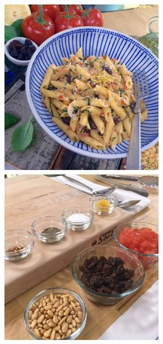 Chef Nick Stellino makes a Sicilian dish by pairing Pasta with pine nuts, raisins and tomatoes and the result is delicious! Catch Home and Family weekdays at 10/9c on Hallmark Channel!