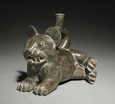 Feline Vessel, c. 300-100BC Peru, Moche, Early Intermediate Period