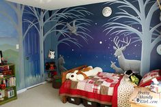 Nighttime forest murals (NolansNightWalls)