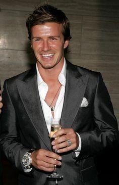 David Beckham- wide lapel is classic!