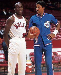 Michael Jordan & Julius Erving