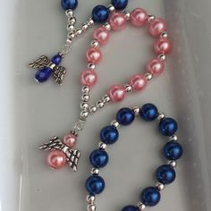 Cute finger rosaries with glass pearl beads