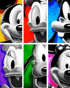 Mickey Mouse, Donald Duck, Goofy Goof, Daisy Duck, Pluto and Minnie Mouse Disney Cartoons, Disney Pixar, Walt Disney, Disney Characters, Mickey Mouse Wallpaper, Disney Wallpaper, Mickey Mouse And Friends, Mickey Minnie Mouse, Disney Love