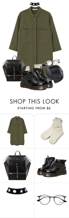 """""""11:49"""" by wezal on Polyvore featuring MANGO, UGG, WithChic and Ray-Ban"""