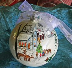 Hand painted Church ornament item 1 by reneesprettypainted on Etsy