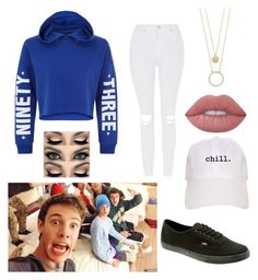 """Chilling with the magcon boys"" by emma1322 on Polyvore featuring New Look, Topshop, Vans, Lime Crime and Kate Spade"