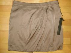 Bebe Draped Knee Length Soft Skirt Size 10 $98 NWT #Bebe #FullSkirt
