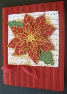 Catalog CASE Poinsettia ~ LOVE the use of embossing folders!
