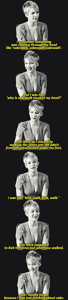 Jennifer Lawrence talks about her fall at the Oscars. We'd totally be friends!