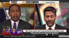 ESPN First Take September (9-13-2016) - Sam Bradford or Shaun Hill For V...