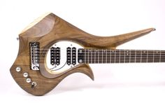 """Isabelle - Satin Oil Finish, Walnut and Ash sandwich body, 25.5"""" scale length, Floating Magnetic Cycfi Pickups #electricguitar"""