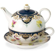 Tea for one set / from English Tea Store http://www.englishteastore.com/tea-for-one-vanderbilt-biltmore.html